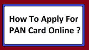 How To Apply For PAN Card Online ?